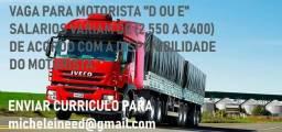 Emprego motorista truck ou carreta