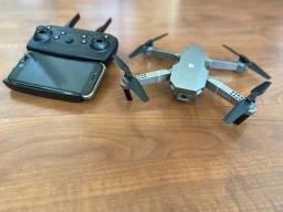 Mini drone E68 com câmera- diverta-se