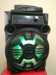 Caixa de Som KTS 1090 com Bluetooth Microfone e Controle Remoto Inclusos!
