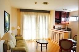 Flat à venda no Hotel Paulista Wall Street com 1 dormitório, e 1 vaga!