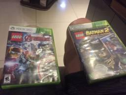 Games p XBox 360 batman e Lego
