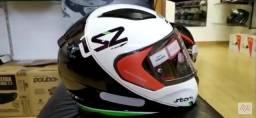 Capacete Ls2 Ff353 Rapid Stark Preto Branco E Verde
