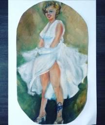 Tela Marilyn Monroe - Pintura Óleo