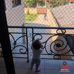 Redinha tela de proteção instalada para proteger suas crianças