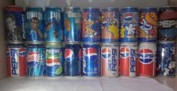 Set Lote De Latas Coleção Refrigerantes Anos 90 Pepsi Cola