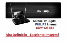 Antena Digital Interna Tv Philips Original Hdtv Modelo Sdv1125t/55 Vhf Uhf Impecável!