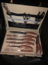 Kit churrasco cozinha master chef 25 peças em aço cirúrgico