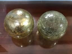 Bolas de vidro decorativas
