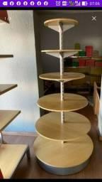 Gondola mdf estrutura ferro com ajuste das prateleiras