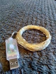 Cordão de LED Grande (10 ou 12 Metros) Fio de Fada