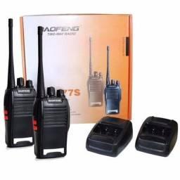 2 Rádios De Comunicação Ht Uhf Vhf 16 Canais Completos 777s