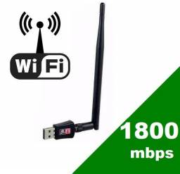 Adaptador Wireless Antena Wifi Usb Sem Fio 1800 Mbps<br><br>