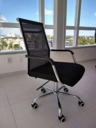 Cadeira para escritório encosto em tela