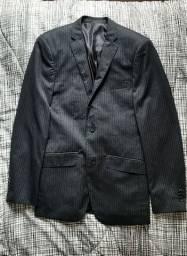 Terno e calça risca de giz Slim tamanho 42 PP