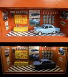 Quadro Oficina de carro miniatura Aero Willys com luz led