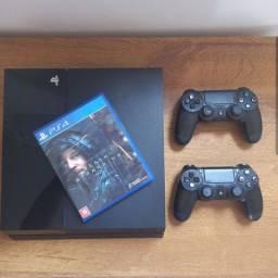 PS4 FAT 500gb com 2 Controles + Jogo Death Stranding