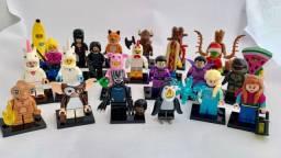 Bonecos de montar Marvel heróis Ninjago Zodíaco Harry Potter Simpsons