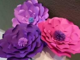 Título do anúncio: Flores Gigantes de papel