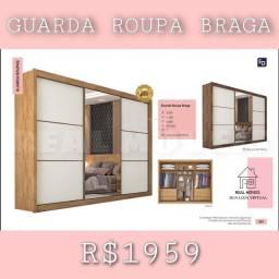 Título do anúncio: Guarda-roupa casal Braga / G.roupa Braga / G.roupa Braga/ G.roupa braga