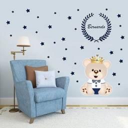 Título do anúncio: Adesivo Decorativo de parede Ursinho Rei/Príncipe