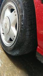 Rodas 14 c pneus 1/2 vida e rodas 17