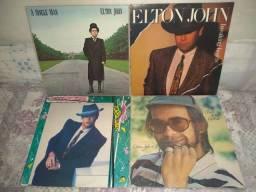 4 LP Vinil do Elton John importado, prensagem dos Estados Unidos com encarte.