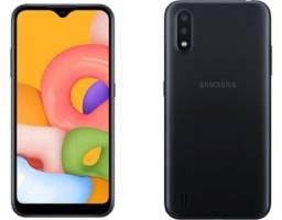 Título do anúncio: Smartphone Samsung Galaxy A01 Core Preto 32GB