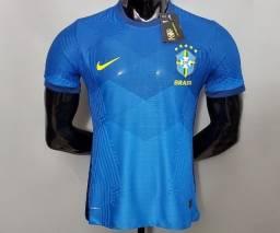 Camisa Azul seleção Brasil versão Jogador 21/22
