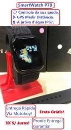Título do anúncio: SmartWatch (P70 38mm) Monitora Saúde e GPS - IOS e Android - Frete Grátis!