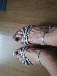Venda sandália prateada, número 36,,