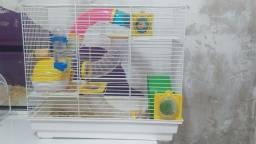 Gaiola de tubos para hamster