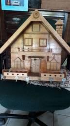 Casinha porta chaves em madeira ARTESANAL