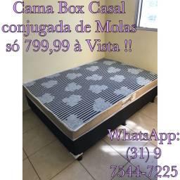 !!!CAMA BOX CASAL!!! MOLAS BONNEL MACIA!!!