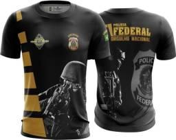 Camisa camiseta Polícia Federal (uso liberado)