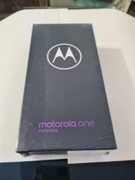 Motorola one fusion 128bgb novo lacrado com nota.