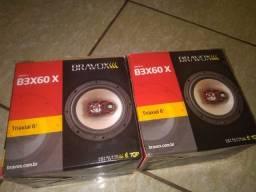 Kit Alto Falantes 2 Pares Bravox 6 Polegadas Triaxial B3X60X