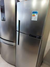 Refrigerador Brastemp Inox BRM44 375 litros  127 volts Sem Uso