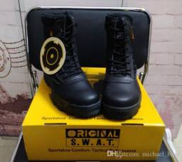 Bota Swat Tactical botas para o dia-a-dia com proteção para o homem/mulher respirável