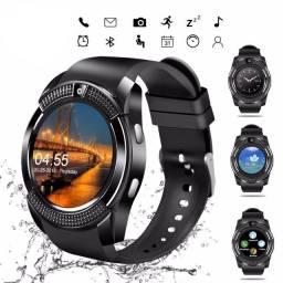 Relógio Smart Watch V8 Com Tela Touch e Câmera/Relógio