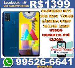 Usado Samsung M31 128GB 6GB Bateria/6000 camera-64MP garantia_Ate_12/20213144zltnj#_#_#_#_