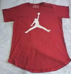 Camiseta Longline Jordan Vermelha