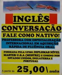 INGLÊS para Conversação.Prof.UFMG,USA,Europa