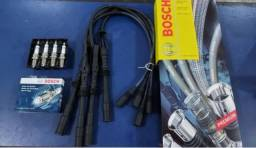 Jogo Cabo Vela + Vela Audi 1.8 20v 99/06 Aspirado Bosch