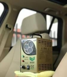 Lavagem ecológica de veículos e oxisanitização com ozônio