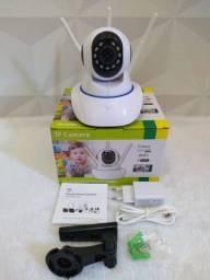 Título do anúncio: Câmera Ip w-fi 3 antenas