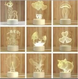 Luminária LED 3D