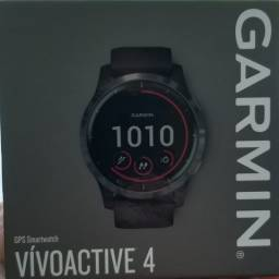 Relógio Smartwatch Vivoactive 4 Garmin Cinza Prata
