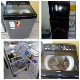 Máquina de lavar e geladeira