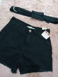 Short cintura alta mom jeans (cea), nunca usado