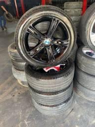 Título do anúncio: Rodas aro 17 BMW com pneus